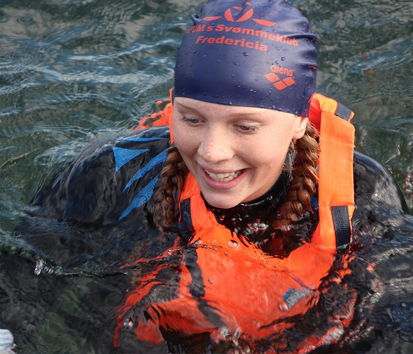Elev i vandet ved lillebælt