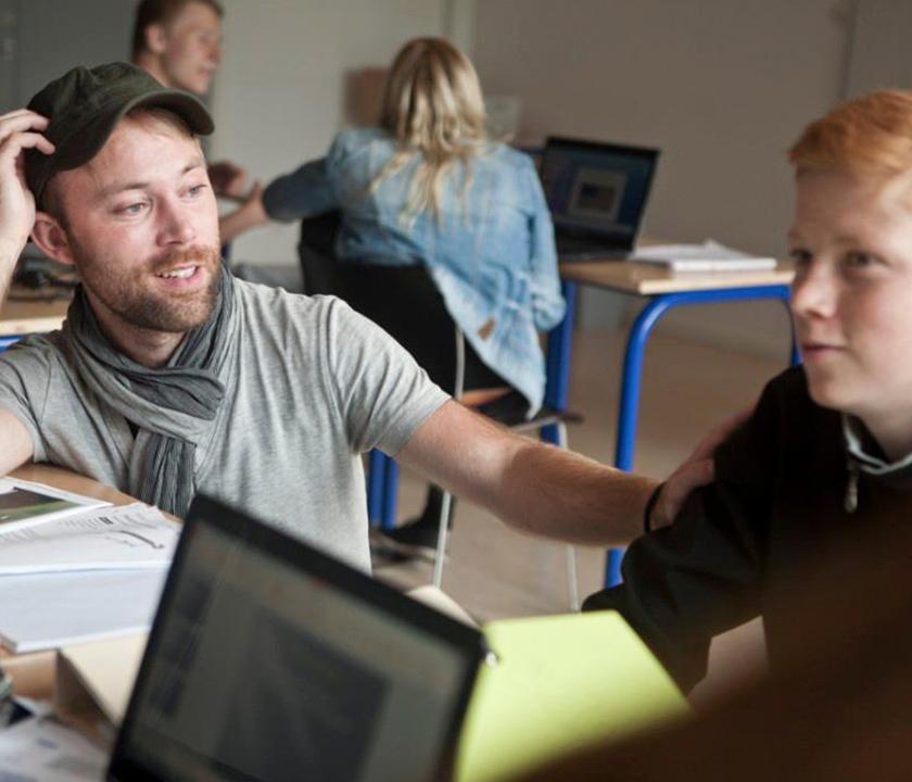 Undervisning og samtale mellem elev og lærer