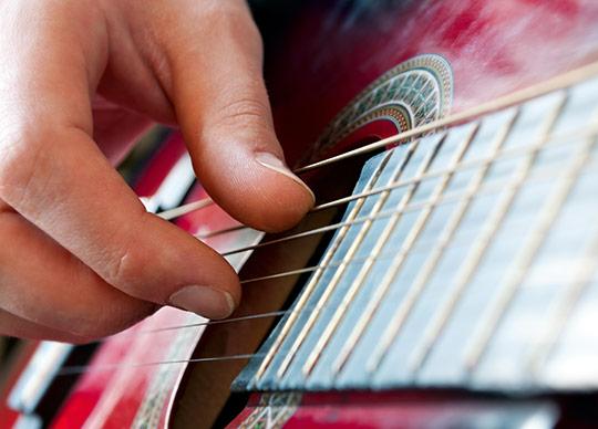 Guitar nærbillede